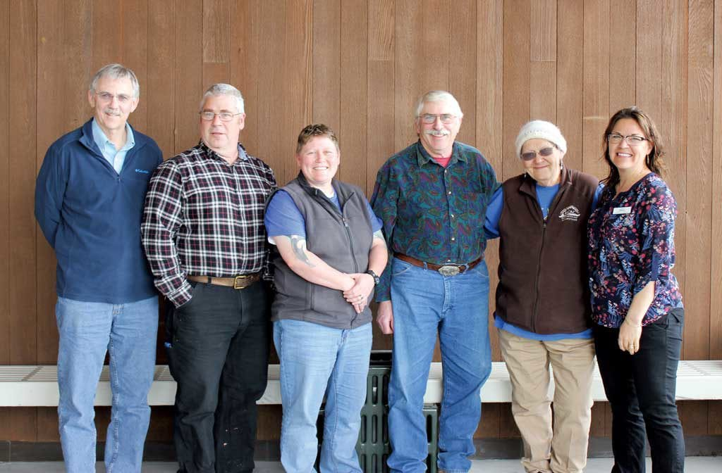 Board members of the Prince William Sound Regional Citizens' Advisory Council , from left, are member-at-large Wayne Donaldson, city of Kodiak; Vice President Thane Miller, PWSRCAC; President Amanda Bauer, city of Valdez; member-at-large Robert Archibald, city of Homer; member-at-large Patience Andersen Faulkner, Cordova District Fishermen United and member-at-large Melissa Berns, Kodiak Village Mayors Association. Not pictured is Secretary Bob Shavelson, Oil Spill Regional Environmental Coalition. Photo courtesy of Amanda Johnson, PWSRCAC