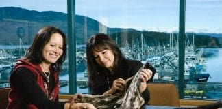 Chugach Aleut sisters Mary Babic and Peggy McDaniel, of Alutiiq Creations, have resided in Cordova for 35 years. They've been working together for about 10 years, and attending the Alaska Native Customary Art Show, part of AFN, for the same amount of time. Photo courtesy Mary Babic and Peggy McDaniel/For The Cordova Times