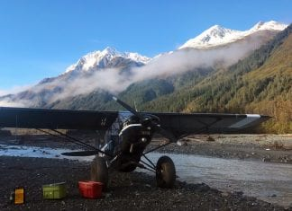 The rain let up and the clouds parted in the morning of Oct. 6, revealing the first snowy peaks of the season at the head of Nelson Bay. Jared Kennedy enjoyed the break in weather while transporting passengers in his PA-18A Super Cub to the Rude River, just north of Cordova.Photo by Jared Kennedy/For The Cordova Times Jared Kennedy is a lifelong resident of Cordova and the owner/operator of Backwoods Air.
