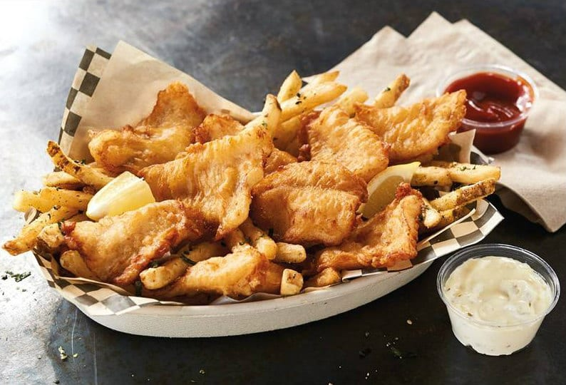 Yes, you get fries with that order of fish and chips, part of Trident Seafoods' new effort to promote the abundance of Alaska pollock processed at its facilities. Photo courtesy of Trident Seafoods
