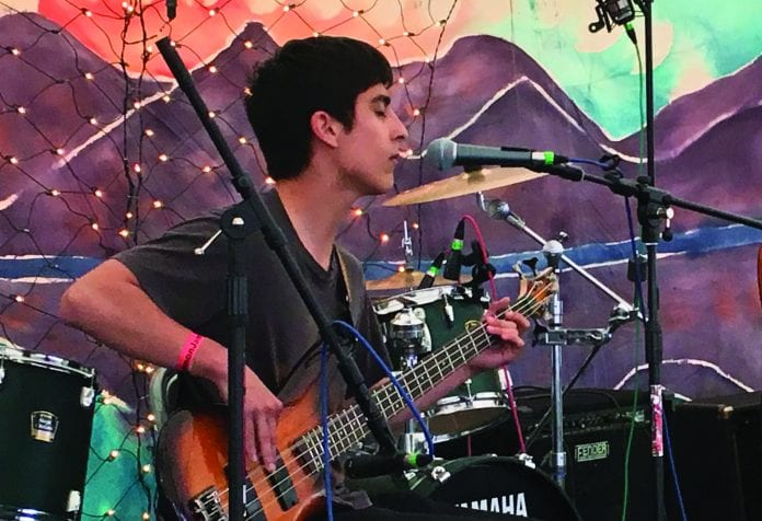 Enrique Zamudio played guitar during the July 2016 Salmon Jam music festival in Cordova. Zamudio's family remembered his love of music in the Cordova Courthouse on Dec. 5, 2017. J.D. Stimson will serve three years in prison for criminally negligent homicide and driving under the influence in the vehicle crash death of his friend Zamudio in August 2016. Photo by Cinthia Gibbens-Stimson/The Cordova Times file, 2016