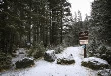 "The Sheridan Mountain trailhead as seen on Wednesday, Jan. 10, 2018. On Dec. 26, Cordova resident Emily Taylor became lost while hiking the Sheridan Mountain trail. ""I was so tired on the walk out,"" she said after being on the trail for eight hours. Photo by Emily Mesner/The Cordova Times"