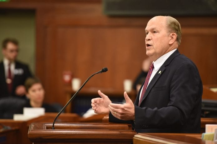 Gov. Bill Walker delivers his fourth State of the State address in Juneau. Photo courtesy of the governor's office