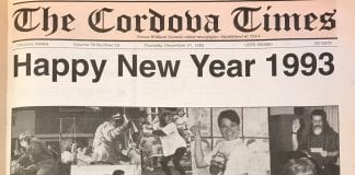 Editor's Note: Flashback is a new feature in The Cordova Times. Check back weekly for flashbacks to this week in history with The Cordova Times archive. The Cordova Times New Year's Eve edition, 25 years ago. Recognize anyone? — From The Cordova Times archive, 1992