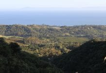 View over Montecito, California.