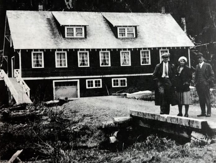 A 1930s view of the salmon hatchery at Mile 7 on Power Creek road. It was built in 1921, but after several failures, transferred to the U.S Forest Service in 1927, and eventually became the Bethany Home for children in 1938. Cordova Historical Society photo