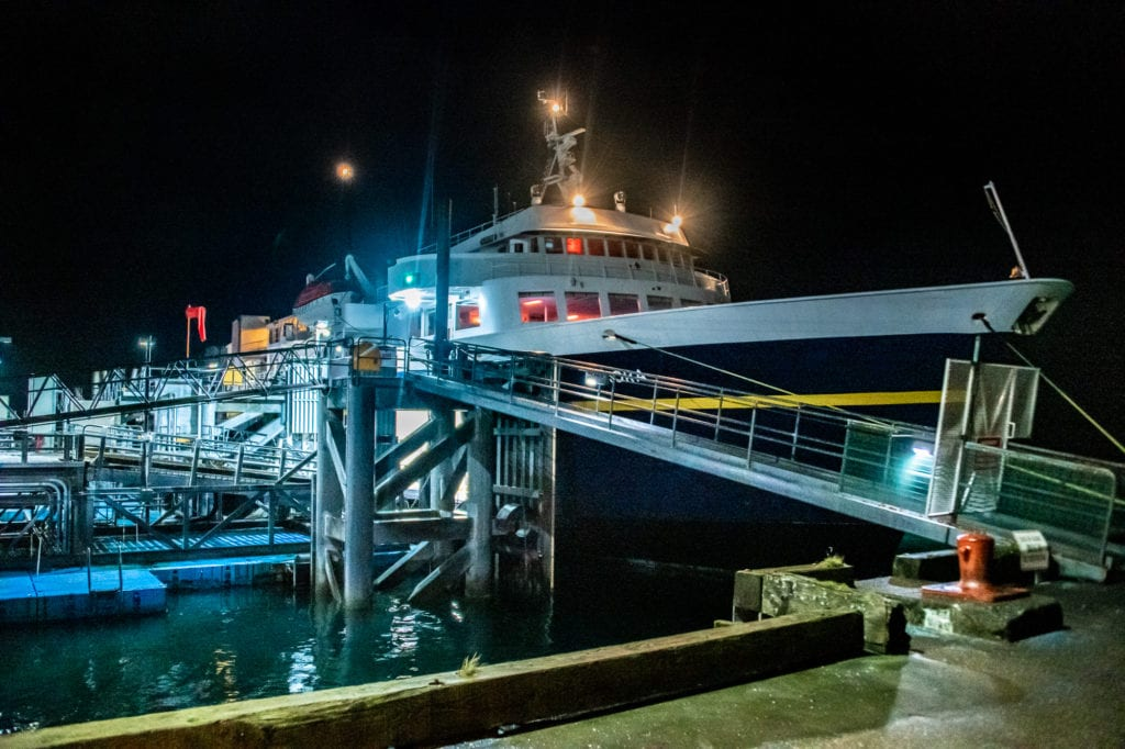 The M/V Aurora prepares for its final 2019 passenger run out of Cordova. (Sept. 19, 2019) Photo by Zachary Snowdon Smith/The Cordova Times