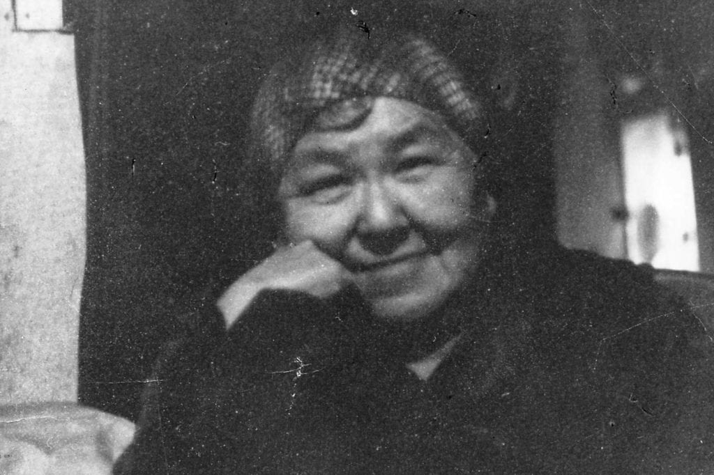 Lena Saska Nacktan was one of the last fluent speakers of dAXunhyuuga', or Eyak language. She played a pivotal role in helping linguist Michael Krauss learn and document the language for generations to come. Photo courtesy of Jen Rose Smith