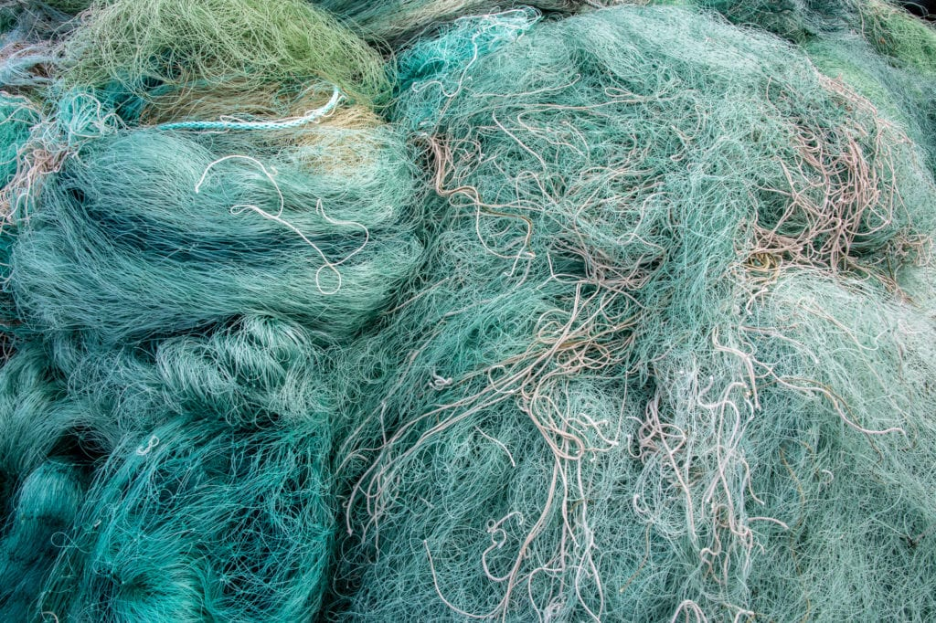 Loose fishing net collected by the Copper River Watershed Project. (Oct. 3, 2019) Photo by Zachary Snowdon Smith/The Cordova Times