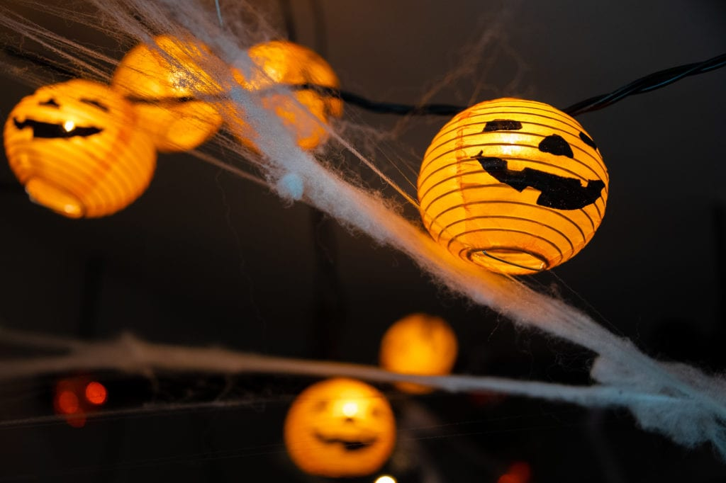 Halloween decorations on display at the Powder House bar and grill. (Oct. 6, 2019) Photo by Zachary Snowdon Smith/The Cordova Times
