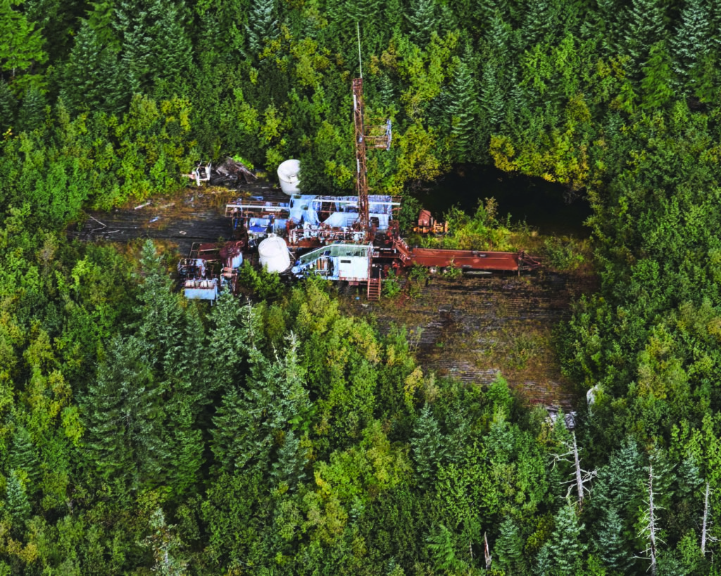 The old Katalla drill site.  Photo courtesy of Eyak Preservation Council