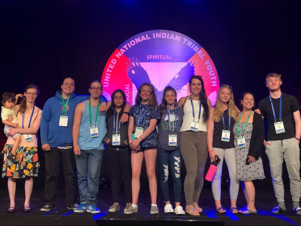 Native Village of Eyak Tribal Youth Council at the National Unity Conference this summer. Photo courtesy of Jessica Weaver/for The Cordova Times