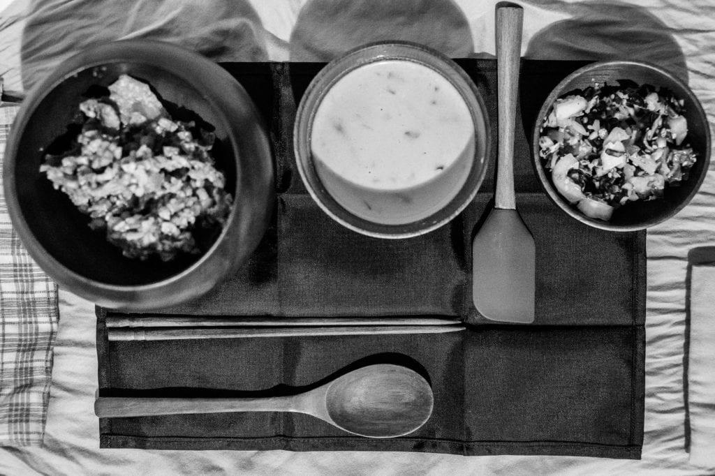 An ōryōki meal. (Nov. 2, 2019) Photo by Zachary Snowdon Smith/The Cordova Times