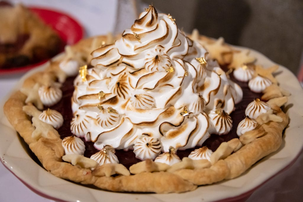 The lemon meringue with lowbush cranberry jelly pie awarded best overall in the contest. (Nov. 9, 2019) Photo by Zachary Snowdon Smith/The Cordova Times