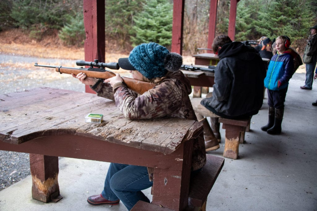 The Cordova Times's own Vivian Kennedy participates in a .22 rifle competition. (Nov. 17, 2019) Photo by Zachary Snowdon Smith/The Cordova Times
