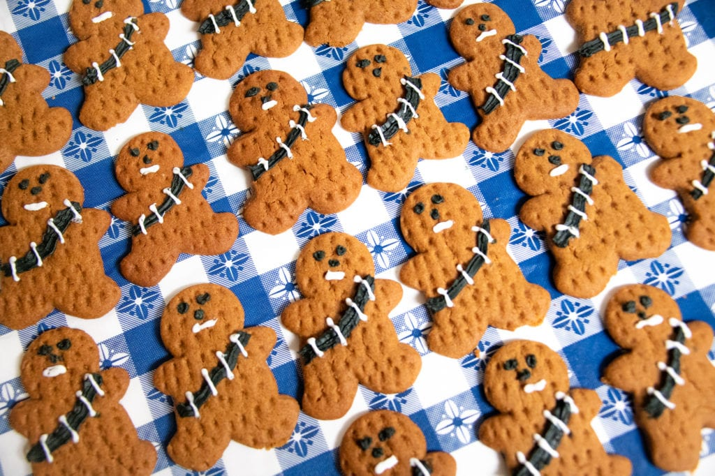 "Cordova Family Resource Center baked 231 ""gingerbread Wookiees"" for the students of Mt. Eccles Elementary School as a thank-you for participating in a recent ""Star Wars""-themed CFRC event. (Nov. 22, 2019) Photo by Zachary Snowdon Smith/The Cordova Times"