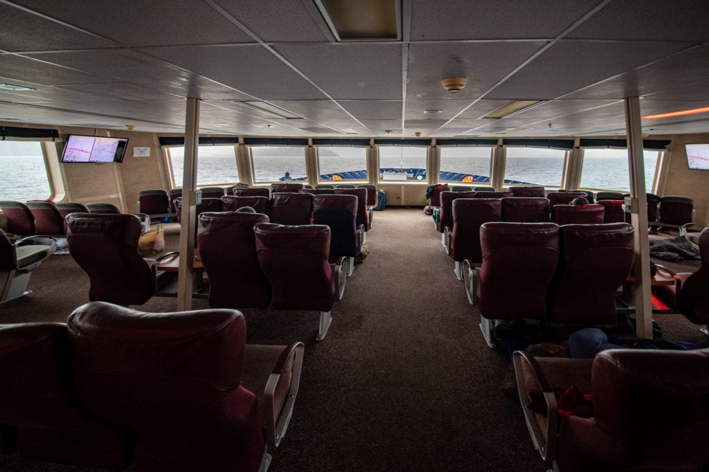The observation deck of the M/V Aurora. (Sept. 19, 2019) Photo by Zachary Snowdon Smith.