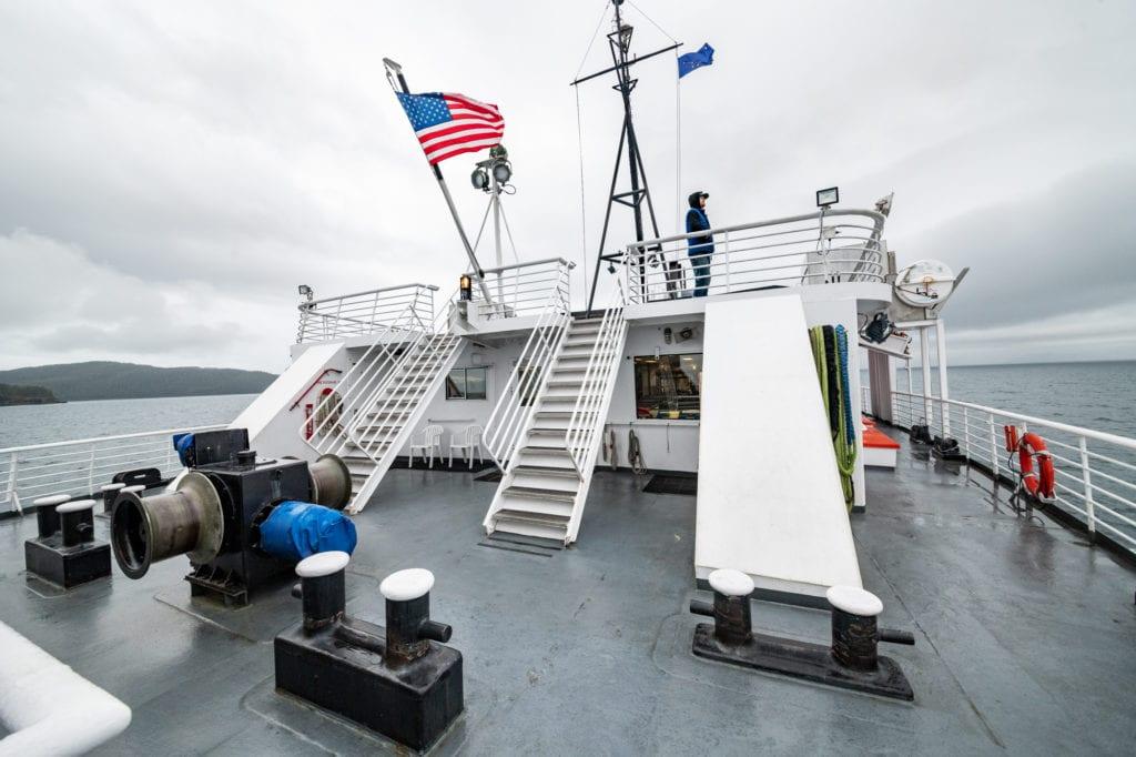 Aboard the M/V Aurora. (Sept. 19, 2019)