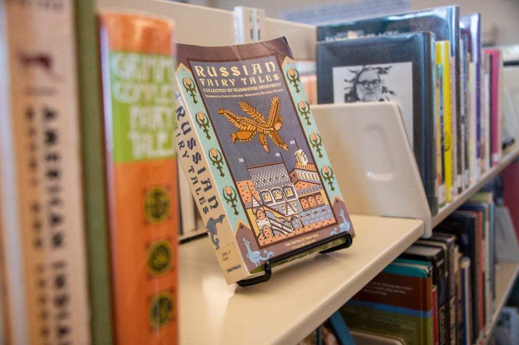 Books on display at Cordova Public Library. (Oct. 1, 2019) Photo by Zachary Snowdon Smith/The Cordova Times