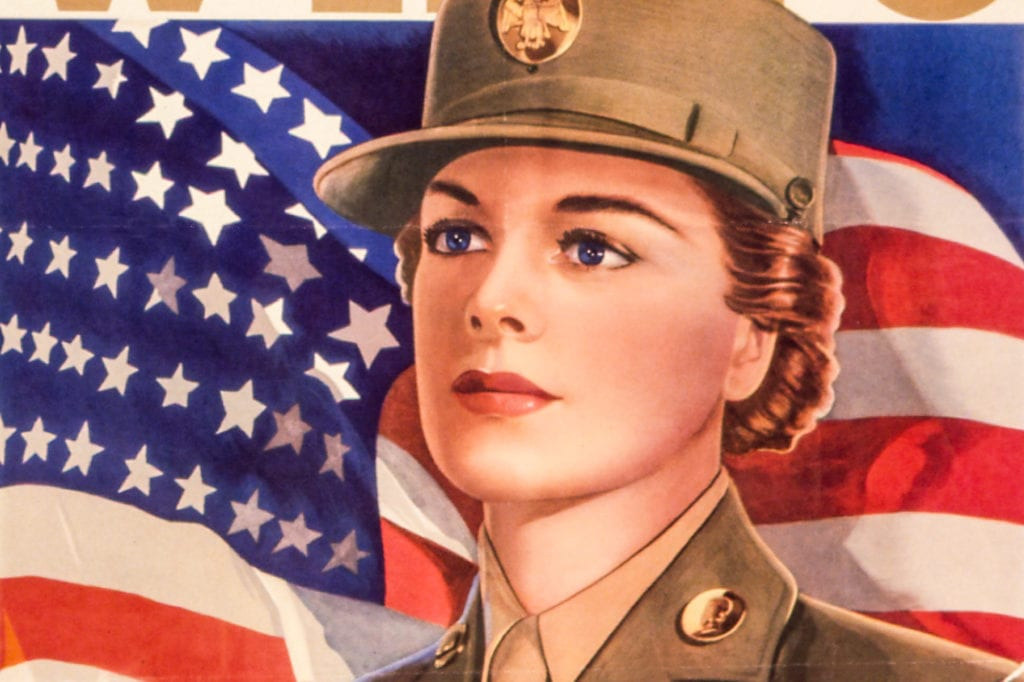 Detail, U.S. Women's Army Auxiliary Corps poster. Image courtesy of the U.S. National Archives and Records Administration