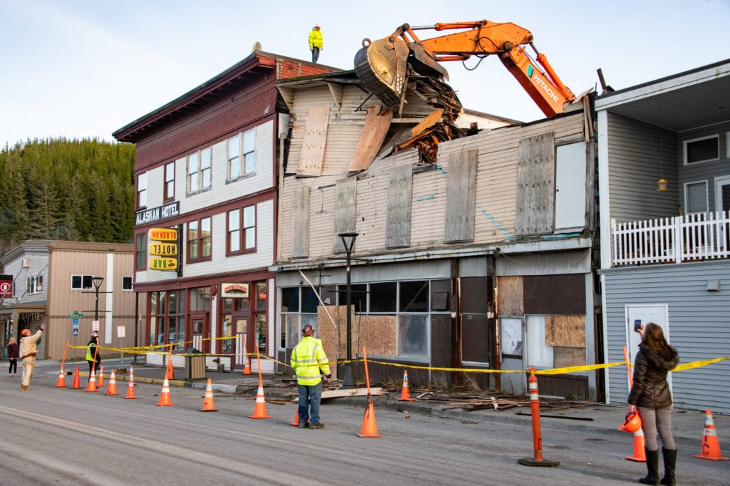 The Cordova Hotel and Bar is demolished. (Dec. 4, 2019) Photo by Zachary Snowdon Smith/The Cordova Times