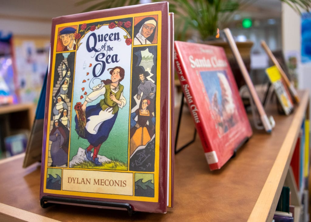 """Queen of the Sea"" by Dylan Meconis is available at Cordova Public Library. (Dec. 11, 2019) Photo by Zachary Snowdon Smith/The Cordova Times"