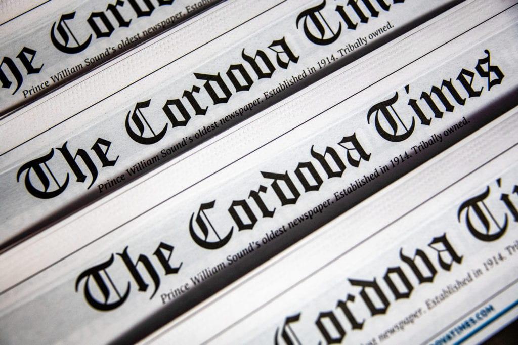 Print editions of The Cordova Times. (Dec. 1, 2019) Photo by Zachary Snowdon Smith/The Cordova Times