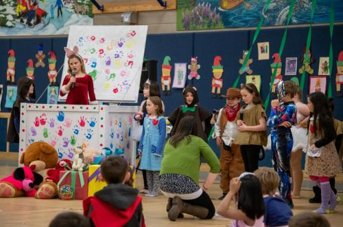 """A performance of """"Toys! The Night They Come Alive"""" at Mt. Eccles Elementary School. (Dec. 10, 2019) Photo by Zachary Snowdon Smith/The Cordova Times"""