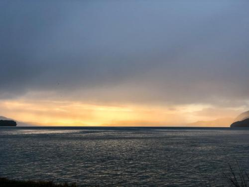 Looking south for sunshine from Orca Road at 2:20 p.m. on Monday, Dec. 16. Photo by Nattilee Kinsman/for The Cordova Times