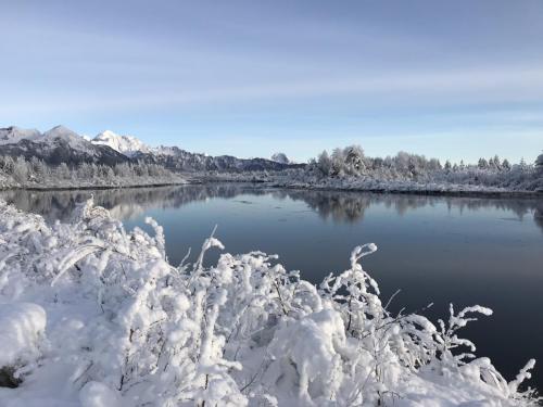 Snow at Alaganik Landing. (Nov. 26, 2019) Photo by Dick Shellhorn/for The Cordova Times