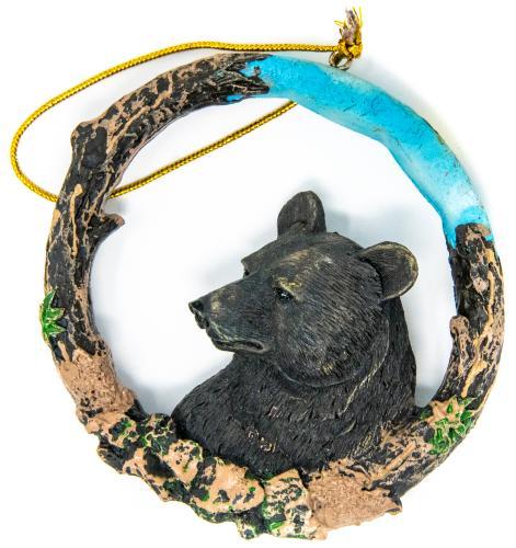 Alaska wildlife holiday ornament