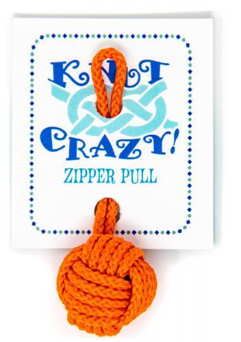 Monkey's fist zipper pull