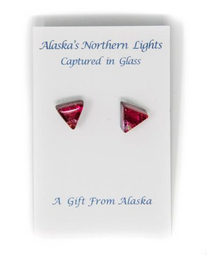 Alaska's Northern Lights glass earrings