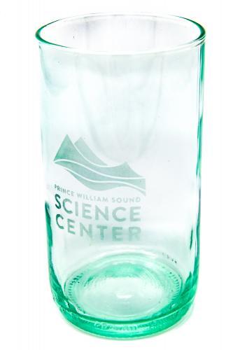 Repurposed wine bottle glass